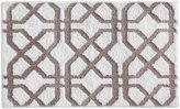 InterDesign Trellis Bath Rug - White/Stone - 34 in. x 21 in.