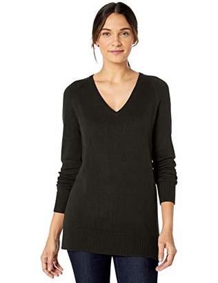 Lark & Ro Women's Long Sleeve Tunic V-Neck Sweater