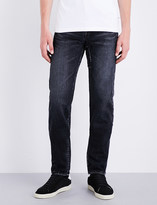 Saint Laurent Regular-fit repair-patch jeans