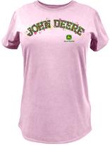 John Deere Pink 'John Deere' Flower Tee