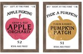 Pottery Barn Harvest Picking Signs