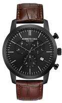 Kenneth Cole Dress Sport Textured Leather-Strap Watch