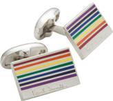 Paul Smith Rectangular Rainbow Enamel Cufflink