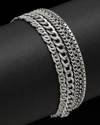 Italian Silver 5-Strand Link Bracelet