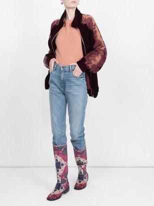 Stella McCartney Lace Panel Track Jacket Burgundy