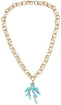 Aurelie Bidermann Capri Gold-plated Resin Necklace - Turquoise