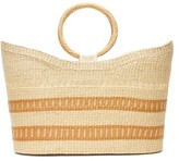 Sensi Studio - Woven-pattern Toquilla-straw Basket Bag - Womens - Beige Multi