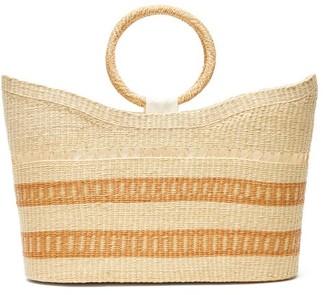 Sensi Studio - Woven-pattern Toquilla-straw Basket Bag - Womens - Beige Multi