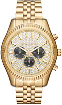 Michael Kors Men's Chronograph Lexington Gold-Tone Stainless Steel Bracelet Watch 44mm MK8494