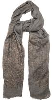 Brunello Cucinelli Flower Head-print cashmere scarf