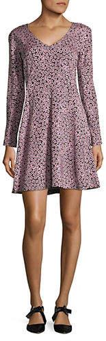 Diane von Furstenberg Floral Long-Sleeve Dress