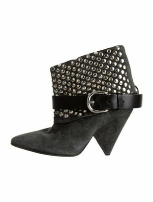 Isabel Marant Suede Studded Accents Boots Grey