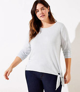 LOFT Plus Side Tie Tunic Top