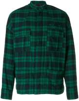 Haider Ackermann plaid shirt jacket