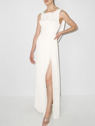 Maria Lucia Hohan Lynda draped-back gown