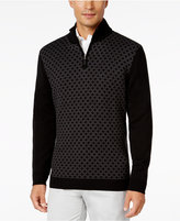 Tasso Elba Men's Pattern Quarter-Zip Sweater, Classic Fit