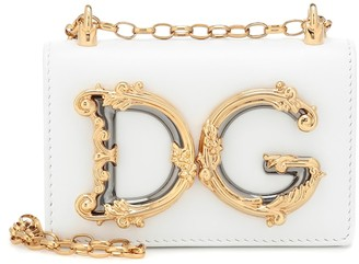Dolce & Gabbana Girls Mini leather shoulder bag