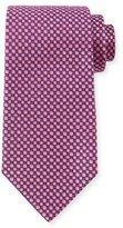 Charvet Square-Print Silk Tie, Purple/Pink