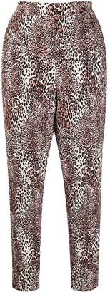 Elisabetta Franchi Leopard-Print Cropped Trousers