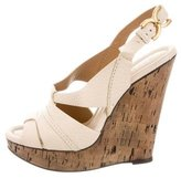 Chloé Multistrap Cork Wedges