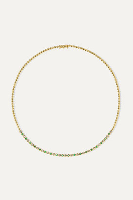 Jennifer Meyer 18-karat Gold, Diamond And Emerald Necklace