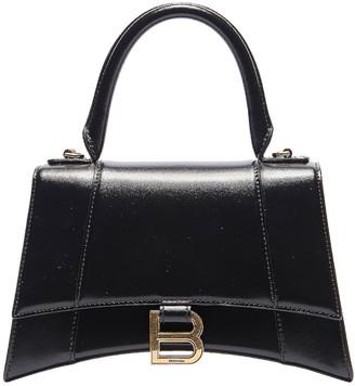 Balenciaga Small Hourglass Top Handle Bag in Black   FWRD