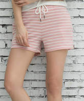 Z Avenue Women's Casual Shorts Pink - Pink & White Pocket French Terry Shorts - Women & Plus