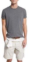 Brunello Cucinelli Short-Sleeve Crewneck T-Shirt, Dark Gray