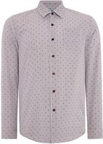 Peter Werth Men's Wire Print Slim Fit Long Sleeve Button Down Shirt