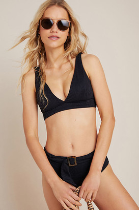 Seafolly Palm Coast Belted Bikini Bottoms By in Black Size 4