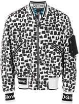Dolce & Gabbana abstract print bomber jacket