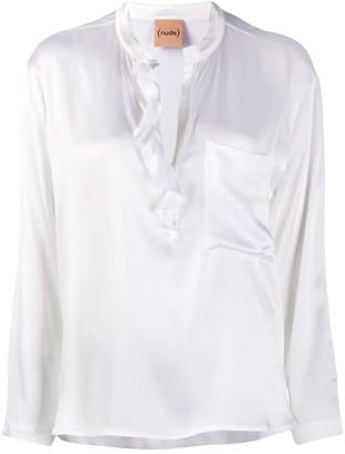 Nude V-Neck Shirt