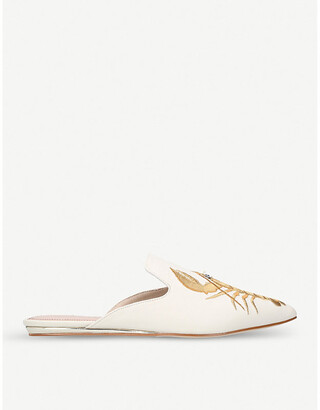 Kurt Geiger Otter lobster-embroidered mules
