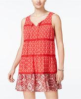 As U Wish As You Wish Juniors' Printed Peasant Dress