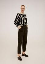 MANGO Jacquard sweater beige - S - Women