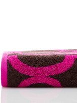 Natori Geo Bath Towel - Bark/Fuchsia