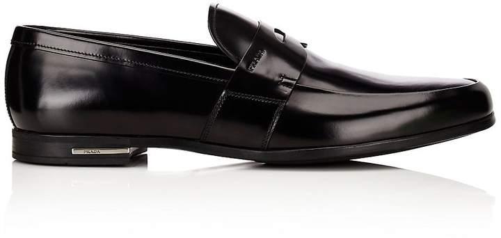 Prada Men's Apron-Toe Penny Loafers