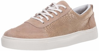 Kaanas Women's LEVANZO Low TOP Croc-Embossed LACE-UP Fashion Sneaker