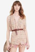 Diane von Furstenberg Novata Metallic Tweed Vest