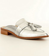 Steve Madden Magan Metallic Leather Tassel Slip-On Dress Mules