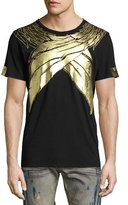 Robin's Jeans Metallic Wings T-Shirt, Black