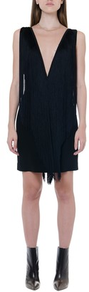 Stella McCartney Fringed V-neckline Mini Dress