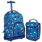 "J World J-World 16"" Lollipop Rolling Backpack with Lunch Kit - Blue"
