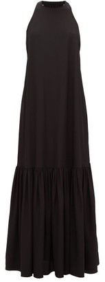 Tibi Halterneck Silk Dress - Black