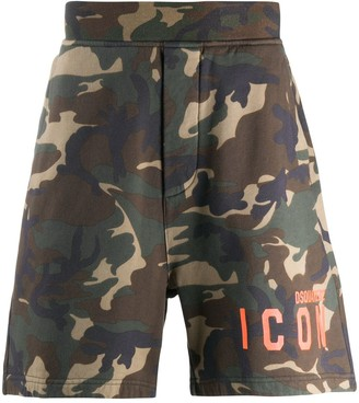 DSQUARED2 camouflage print ICON shorts