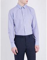 Armani Collezioni Regular-fit Micro-print Cotton Shirt