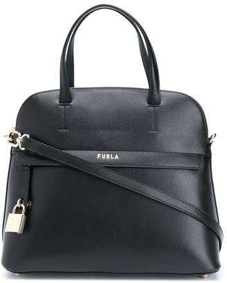 Furla Piper padlock detail tote bag