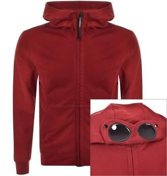 C.P. Company C P Company Full Zip Goggle Hoodie Red