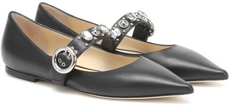 Jimmy Choo Gela leather ballet flats