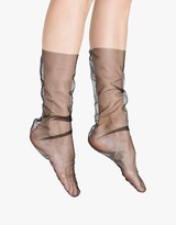 Black Nylon Tulle Sock